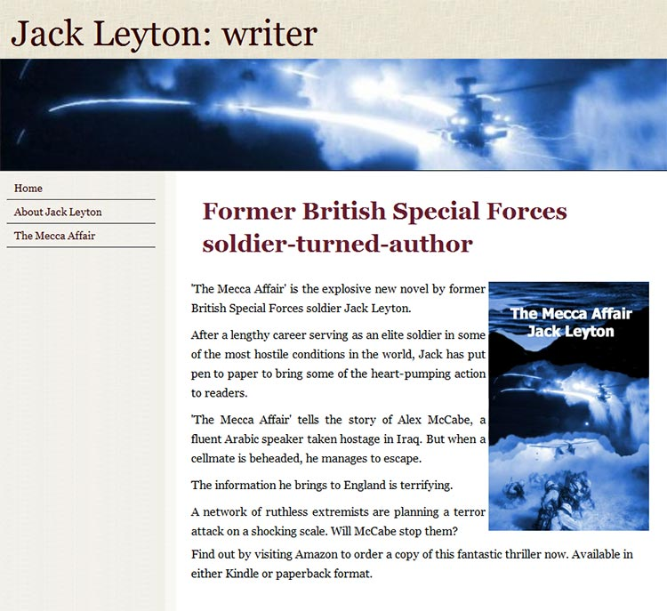 Jack Leyton author website